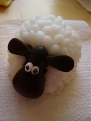 Homemade sheep soap